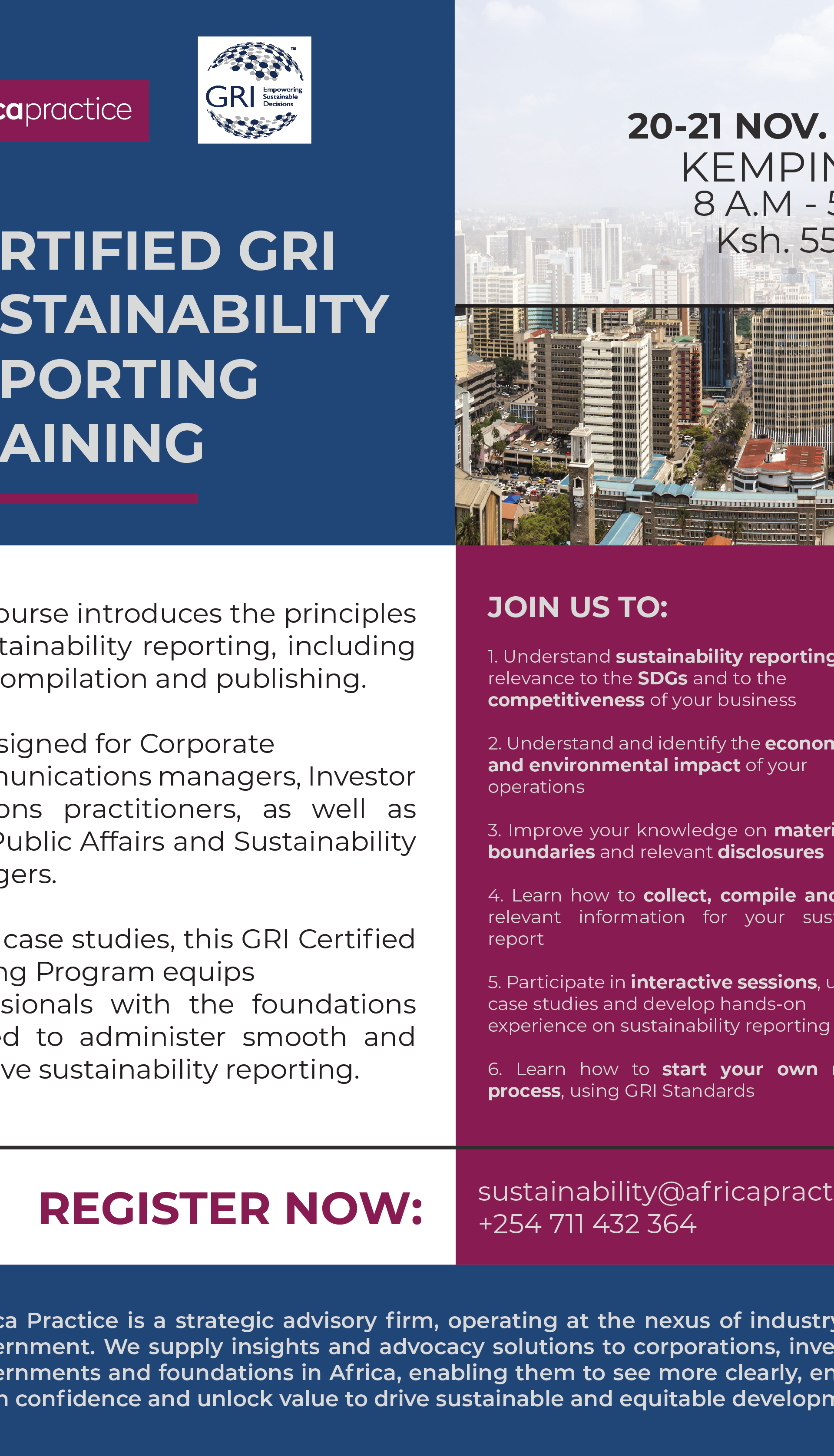 GRI Sustainability Reporting Training