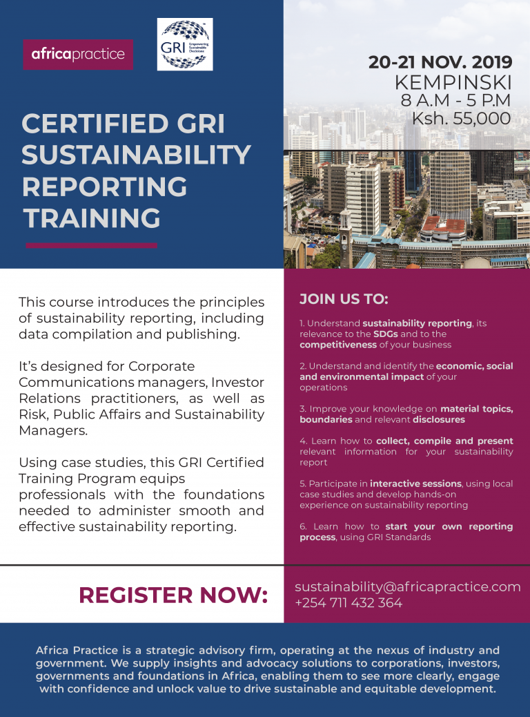 GRI Sustainability Reporting Training